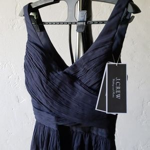 Navy Heidi Silk Chiffon Dress